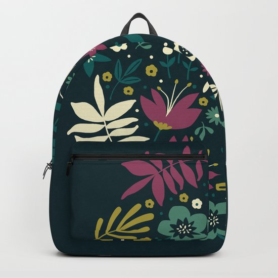Midnight Florals (pop) Backpack