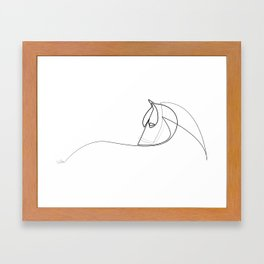 Pony line Framed Art Print