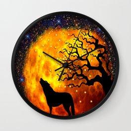 WOLF ENCOUNTER Wall Clock