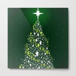 Star Spangled Christmas Tree Metal Print