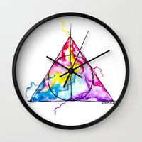harry potter Wall Clocks featuring harry potter by Simona Borstnar