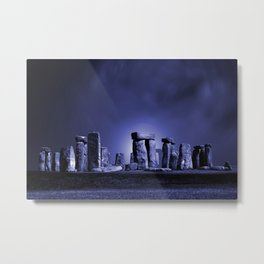 Strange Night at Stonehenge Metal Print