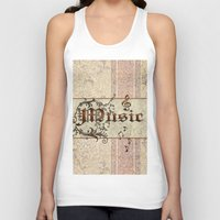 music Tank Tops featuring Music by nicky2342