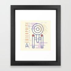 MNML: NCC-1701 Framed Art Print