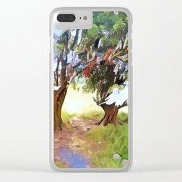 Wishing Tree on Tara Hill Clear iPhone Case