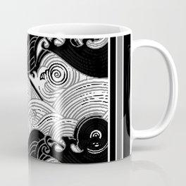 B&W Stormy Waters Graphic Coffee Mug
