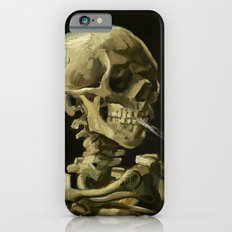 Skull of a Skeleton with Burning Cigarette by Vincent van Gogh Slim Case iPhone 6s