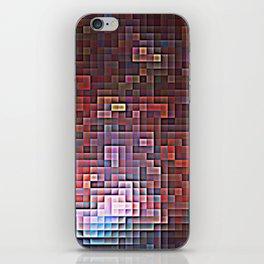 Burgundy Nebula Pixels iPhone Skin