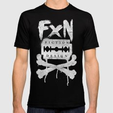 Fiction Design Mens Fitted Tee MEDIUM Black