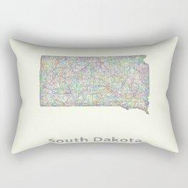 South Dakota map Rectangular Pillow