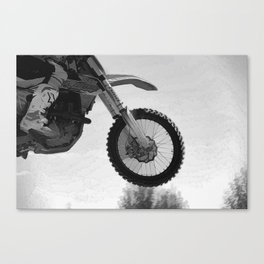 Motocross Dirt-Bike Racer Canvas Print