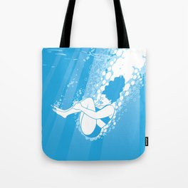 Beautiful Cannonball Under Water Tote Bag