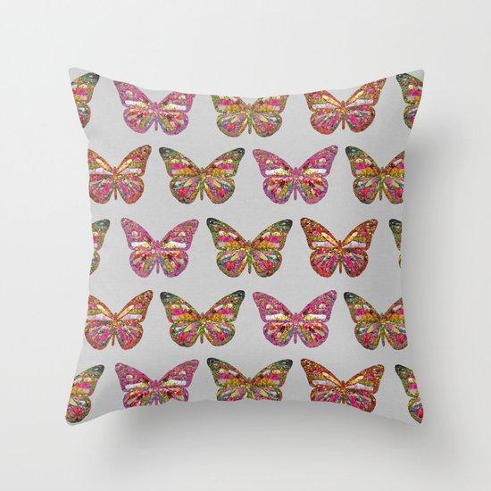 FAMIGLIA FARFALLA Throw Pillow