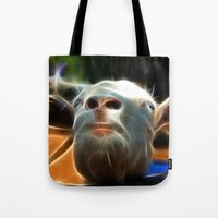 goat Tote Bags featuring Goat by Veronika