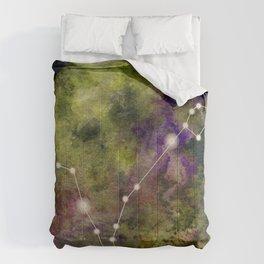 Watercolor Zodiac Pisces Galaxy Comforters