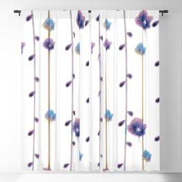 pansies floral minimal pattern Blackout Curtain