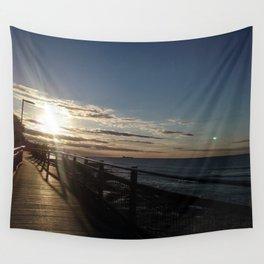 Boardwalk bathed in sunshine - Caloundra Australia Wall Tapestry
