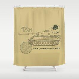 Michael Wittmann Panzer Ace 1331 Kursk Sand/Olive Green Shower Curtain