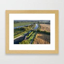 Alrewas lock Framed Art Print
