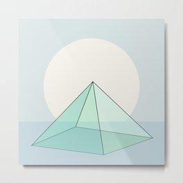Pyramid Sunrise IV Metal Print