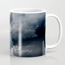 Dramatic Sky - Rain Clouds Dark Gray Blue Monochrome #decor #society6 #buyart Coffee Mug