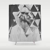 kaleidoscope Shower Curtains featuring Kaleidoscope by Mrs Araneae