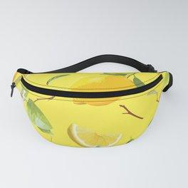 Watercolor Lemon & Leaves 3 Fanny Pack