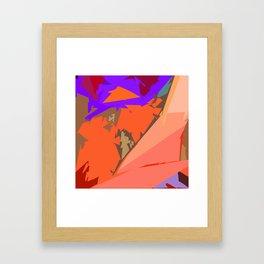 Look Ma! Purple Lights Ahead Framed Art Print
