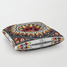 Sacred Places Red Floor Pillow
