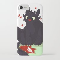 toothless iPhone & iPod Cases featuring Toothless by Flora