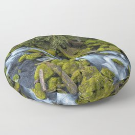 A River's Path Floor Pillow