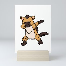 Funny Dabbing Hyena Dab Wild Animal Lover Gift Mini Art Print