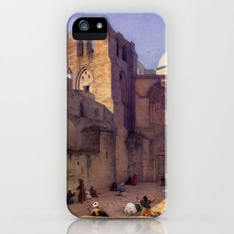 Leander Russ The Church of the Holy Sepulcher in Jerusalem iPhone Case