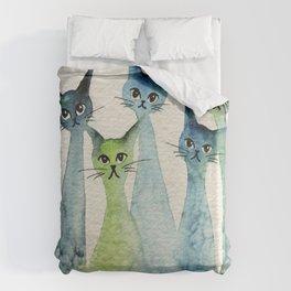 Lakeland Whimsical Cats Duvet Cover