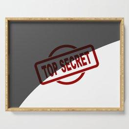 Top Secret Half Covered Ink Stamp Serving Tray