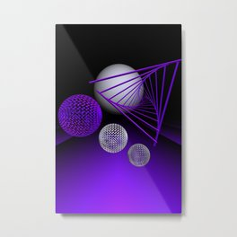 violet geometry -102- Metal Print