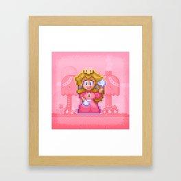 Peach Princess Framed Art Print
