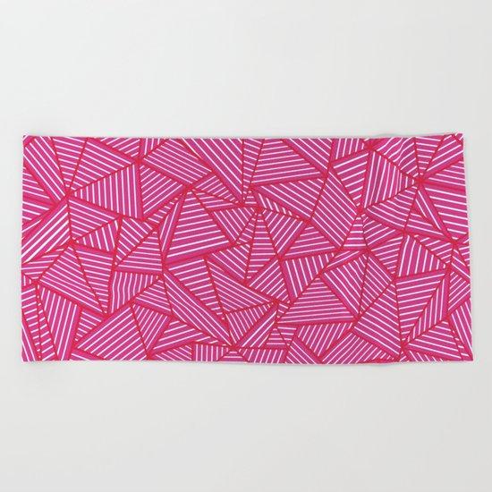 Ab Linear Hot Pink Beach Towel