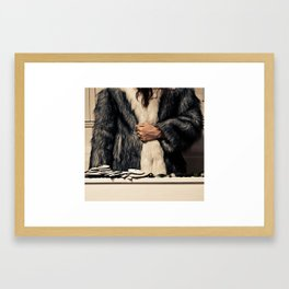 The Fur Coat Framed Art Print