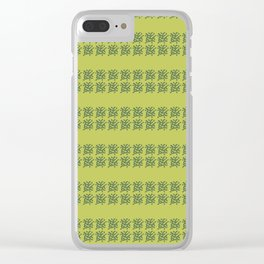 yellowgreen Clear iPhone Case