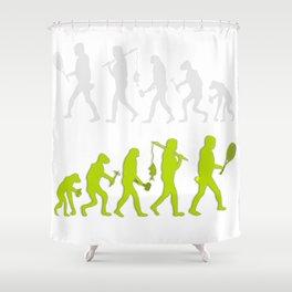 Evolution of Tennis Species Shower Curtain
