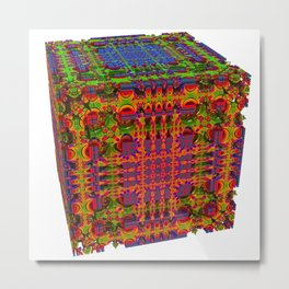 Tech Cubicles | 3D Fractal Metal Print