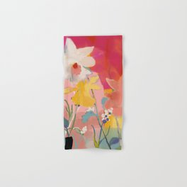 blooming abstract pink Hand & Bath Towel