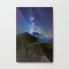 Milky Way Over Mount Rainier Metal Print