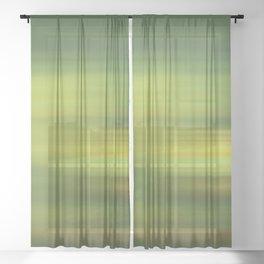 green abstract Sheer Curtain