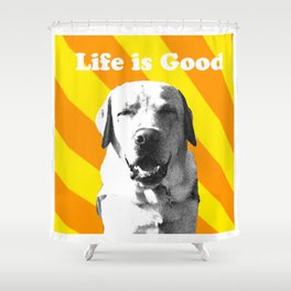 Sunny pup Shower Curtain