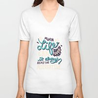 paper towns V-neck T-shirts featuring Paper Towns: It Beats The Alternative by Risa Rodil