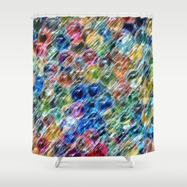 Water Beads Shower Curtain