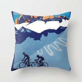 Giro d'Italia Passo Dello Stelvio cycling poster Throw Pillow