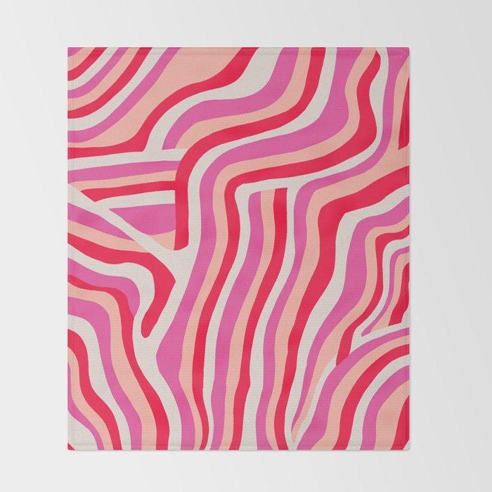 pink zebra stripes Decke